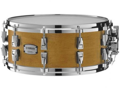"Yamaha AMS1460 14"" Absolute Hybrid Maple Snare (Vintage Natural): 1"