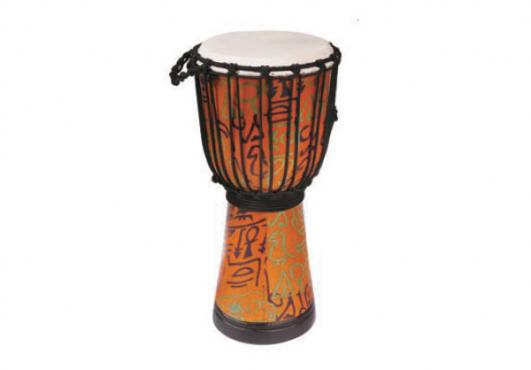 "Maxtone ADJ30B Abstract Cloth Djembe 6"": 2"