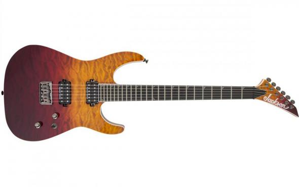 Jackson Pro Series Soloist SL2Q HT MAH, Ebony Fingerboard, Desert Sunset Sky: 1