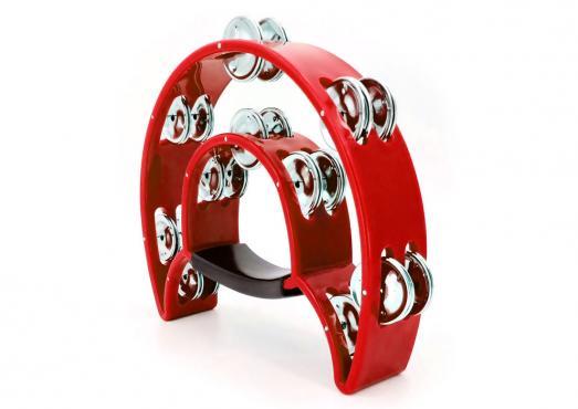 Maxtone 818 Dual Power Tambourine (Red): 1