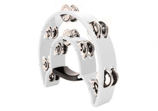Maxtone 818 Dual Power Tambourine (White): 1