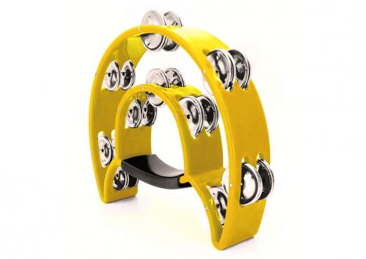 Maxtone 818 Dual Power Tambourine (Yellow): 1