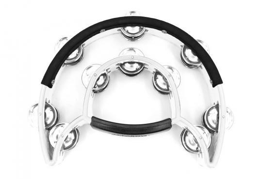 Maxtone 818N/P Power-2 Tambourine w/Protecting Trim (White): 1