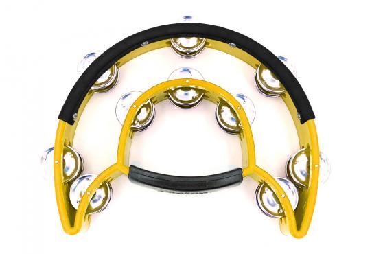 Maxtone 818N/P Power-2 Tambourine w/Protecting Trim (Yellow): 1