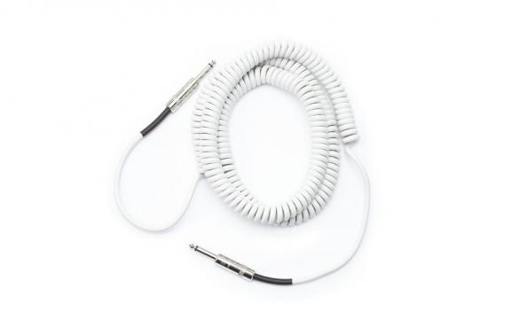 D'Addario PW-CDG-30WH Coiled Instrument Cable - White (9m): 2