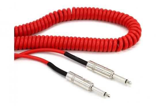 D'Addario PW-CDG-30RD Coiled Instrument Cable - Red (9m): 3
