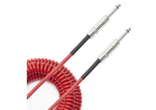D'Addario PW-CDG-30RD Coiled Instrument Cable - Red (9m): 4