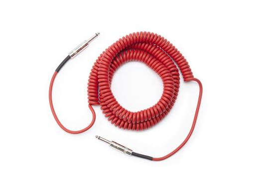 D'Addario PW-CDG-30RD Coiled Instrument Cable - Red (9m): 2