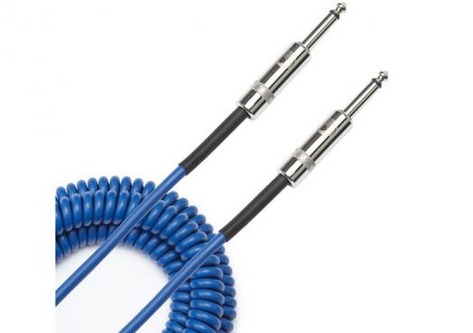 D'Addario PW-CDG-30BU Coiled Instrument Cable - Blue (9m): 3
