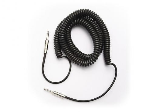 D'Addario PW-CDG-30BK Coiled Instrument Cable - Black (9m): 2