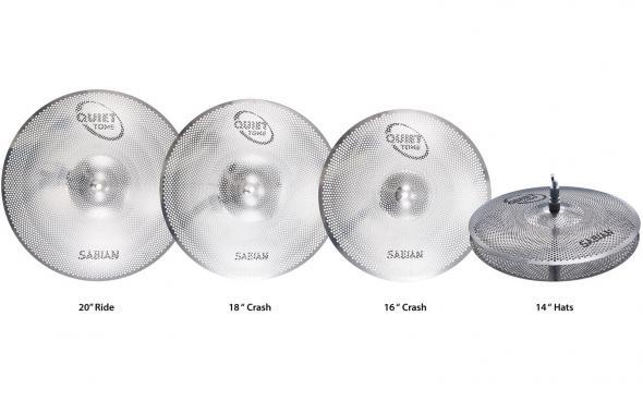 Sabian QTPC504 Quiet Tone Practice Cymbals Set: 2